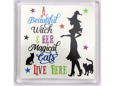 10cm Coaster - Beautiful Witch